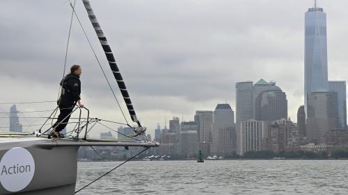 Après 15 jours de traversée de l'Atlantique à la voile, Greta Thunberg arrive à New York