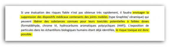 Extrait du rapport du comité scientifique missionné par l'ANSM.