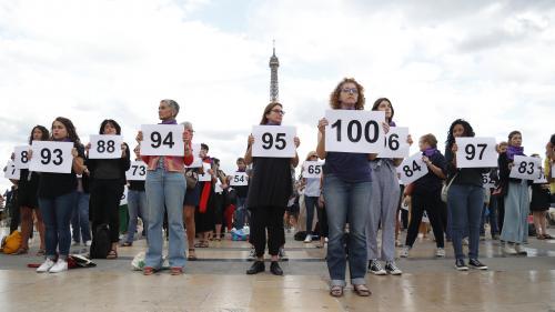 """Paris : rassemblement au Trocadéro pour dénoncer """"le 100e féminicide"""" de l'année"""