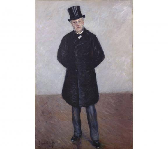 """Gustave Caillebotte, \""""Portrait de Jean Daurelle en pied\"""", 1887, huile sur toie, legs Marie-Jeanne Daurelle, 2019"""