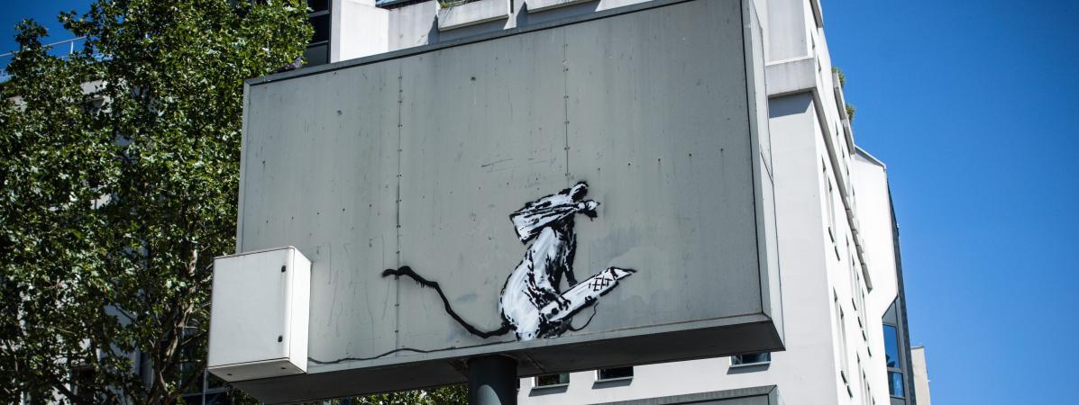 Vol à Paris d'une oeuvre de Banksy 19970279