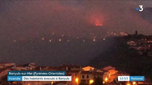 Pyrénées-Orientales : des habitants évacués à Banyuls-sur-Mer après un incendie