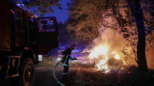 Au moins huit départements touchés par des incendies, plusieurs centaines d'hectares partis en fumée