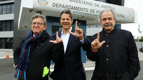 Brésil : Jean-Luc Mélenchon a rencontré l'ancien président Lula en prison