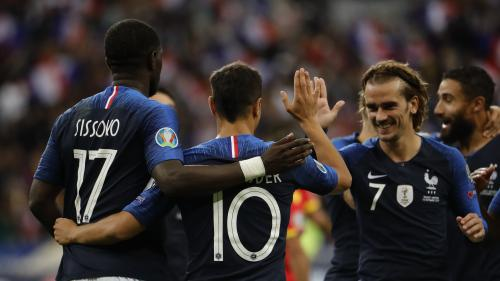 Foot : les Bleus s'imposent facilement face à l'Andorre pour leur 100e au Stade de France
