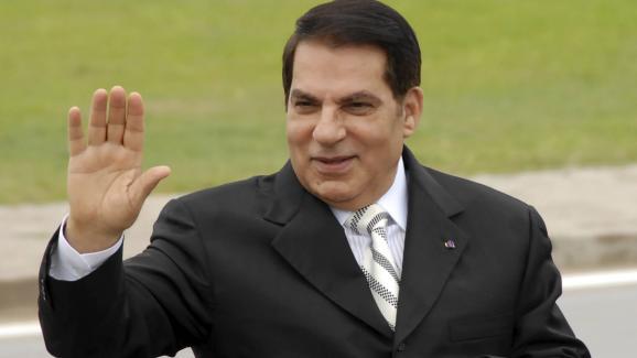 Le président tunisien Zine el-Abidine Ben Ali à Radès, près de Tunis, le 11 octobre 2009