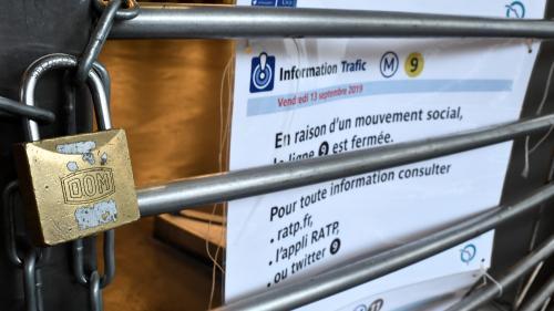 DIRECT. Grève de la RATP : plusieurs lignes désormais fermées jusqu'à 17heures