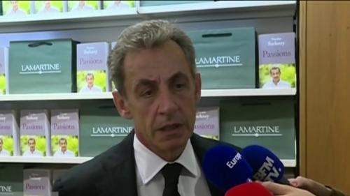 """VIDEO. """"J'ai de la peine pour lui"""", réagit Nicolas Sarkozy après la condamnation de Patrick Balkany pour fraude fiscale"""