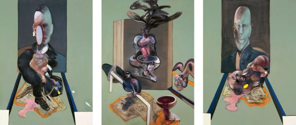 """Francis Bacon, \""""Tritych\"""", 1976, Collection privée"""