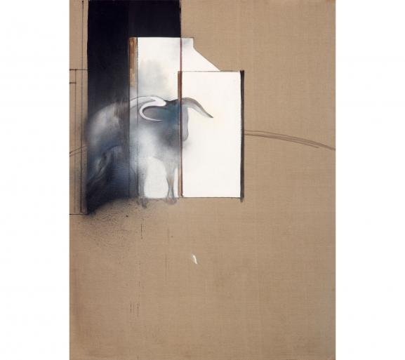 """Francis Bacon, \""""Study of a Bull\"""", 1991, Collection Agnelli, Londres"""