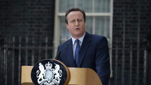 """VIDEO. """"Je suis désolé"""": l'ex-Premier ministre britannique David Cameron revient sur le référendum pour le Brexit"""