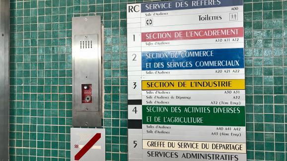 À l\'intérieur du conseil de prud\'hommes de Paris.