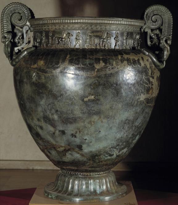 Le vase grec de Vix (Côte-d\'Or), aujourd\'hui exposé au musée de Châtillon-sur-Seine