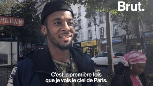 VIDEO. Ibrahim, arrivé à Paris en 2017, raconte son premier jour en France