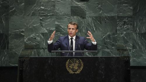 """VIDEO. """"Nous sommes en train de perdre la bataille"""" : Emmanuel Macron plaide pour la lutte contre le changement climatique à la tribune de l'ONU"""