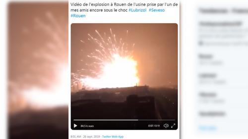 Incendie à Rouen : une fausse vidéo partagée sur Twitter date de 2015 et montre une explosion en Chine