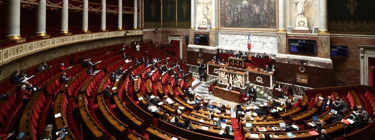 Les députés débattent du projet de loi relatif à la bioéthique, le 25 septembre 2019 à l\'Assemblée nationale, à Paris.