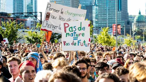 Climat : près de 500 000 personnes ont manifesté à Montréal avec Greta Thunberg, selon les organisateurs