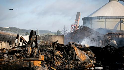Incendie de l'usine Lubrizol à Rouen : la toiture brûlée contenait de l'amiante