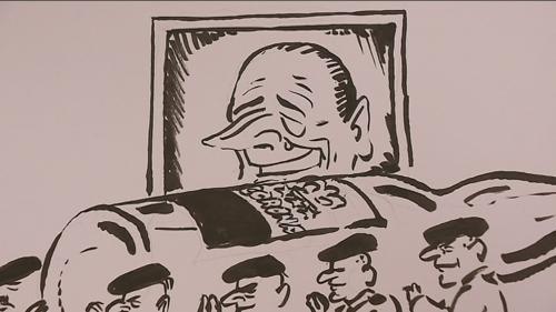 Jacques Chirac vu par les dessinateurs de presse au festival de Saint-Just-le-Martel