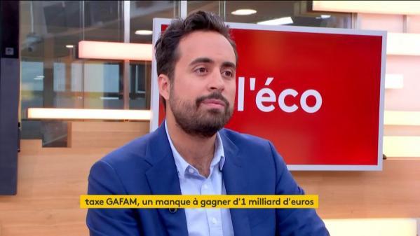 """VIDÉO. Mounir Mahjoubi, député LREM de Paris, à propos des GAFAM : """"Entre 1 et 1,5 milliard d'euros d'impôts n'ont pas été payés en France"""""""