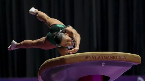 La médaille du jour. A 44 ans, la gymnaste ouzbèque Oksana Chusovitina vise les JO de Tokyo