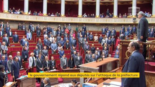 DIRECT. Une minute de silence à l'Assemblée nationale en hommage aux victimes de la tuerie à la préfecture de police de Paris