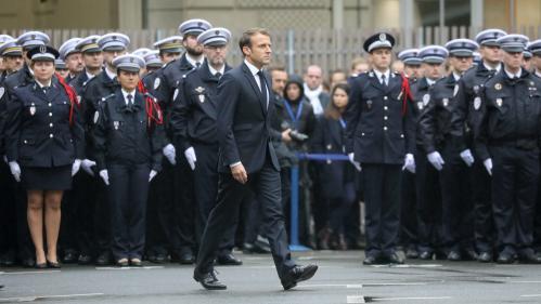 """DIRECT. """"Sept minutes ont suffi à arracher la vie à quatre des vôtres"""" : Macron rend hommage aux victimes de la tuerie à la préfecture de police de Paris"""