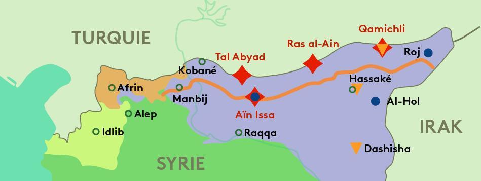 CARTE. Forces en présence, zone tampon, camps de familles jihadistes... On vous explique l'offensive turque...