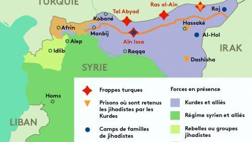 CARTE. Forces en présence, zone tampon, camps de familles jihadistes... On vous explique l'offensive turque en Syrie