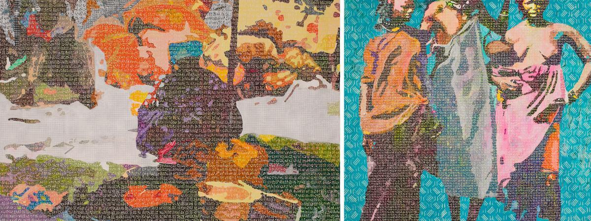 "Ni figurative, ni abstraite, la peinture d'Alioune Diagne est un ""alphabet universel"""