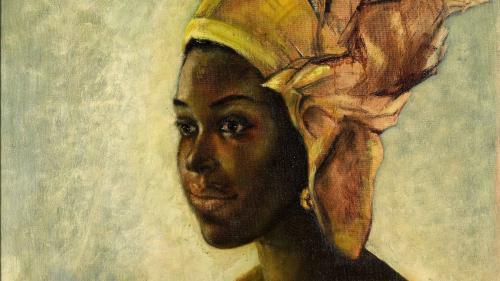 """Le tableau """"Christine"""" du Nigérian Ben Enwonwu vendu plus d'un million de livres à Londres, sept fois plus que l'estimation"""
