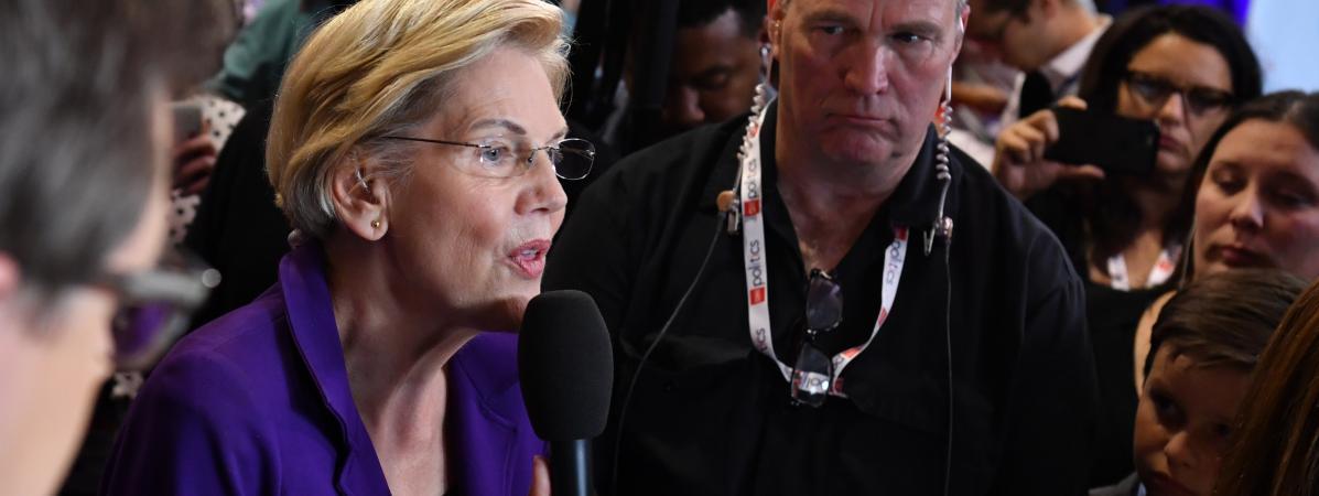 Etats-Unis : Elizabeth Warren cible de ses rivaux démocrates