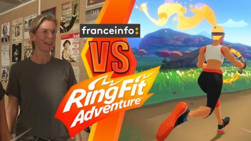 """VIDEO. """"Ring Fit Adventure"""" : le nouveau jeu vidéo de Nintendo permet-il vraiment de faire du sport avec sa Switch ?"""