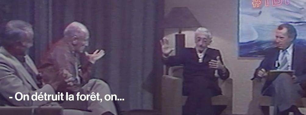 """VIDEO. """"Pour faire des profits colossaux, on massacre nos forêts"""" : il y 40 ans, Haroun Tazieff lançait l'a..."""