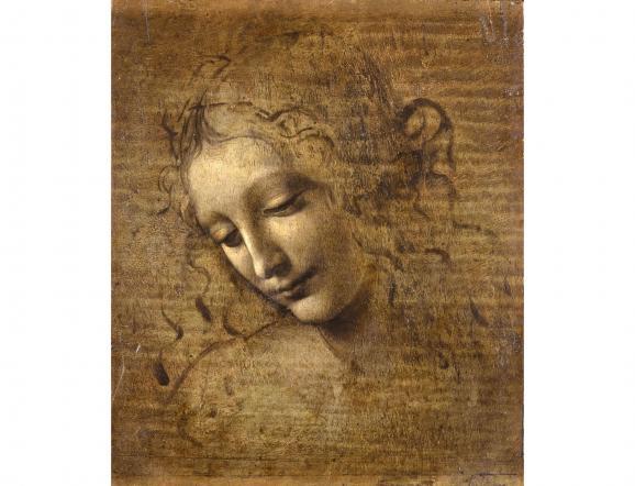 "Léonard de Vinci, \""Tête de femme\"" dite \""La Scapigliata\"""