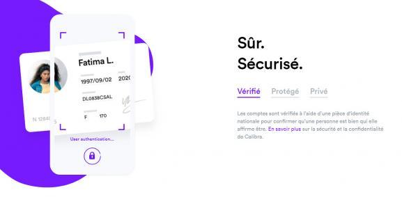 Capture d\'écran du site de la filiale de Facebook Calibra, qui assure qu\'elle réclamera une pièce d\'identité à ses membres pour créer un porte-monnaie pouvant accueillir des Libras.
