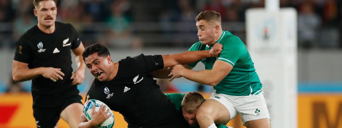 Mondial de rugby : la Nouvelle-Zélande écrase l'Irlande et affrontera l'Angleterre en demi-finale