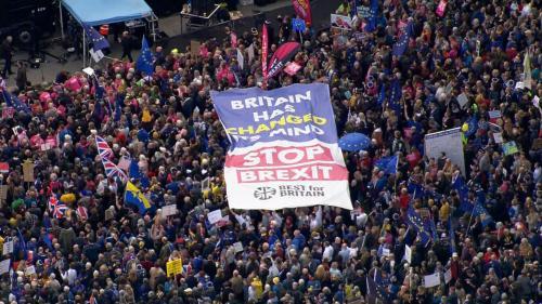 Brexit : un million de personnes manifestent à Londres pour réclamer un nouveau référendum, selon les organisateurs