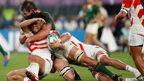 Coupe du monde de rugby : l'Afrique du Sud élimine le Japon (26-3) et affrontera le pays de Galles en demi-finale