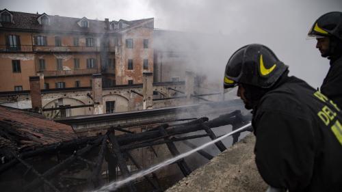 Italie : un incendie détruit le toit de l'Ecurie royale de Turin, site classé au patrimoine de l'Unesco