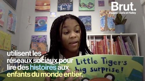"""VIDEO. """"Ça nous rend triste qu'ils n'aient pas accès aux livres"""" : elles lisent des histoires sur les réseaux sociaux"""