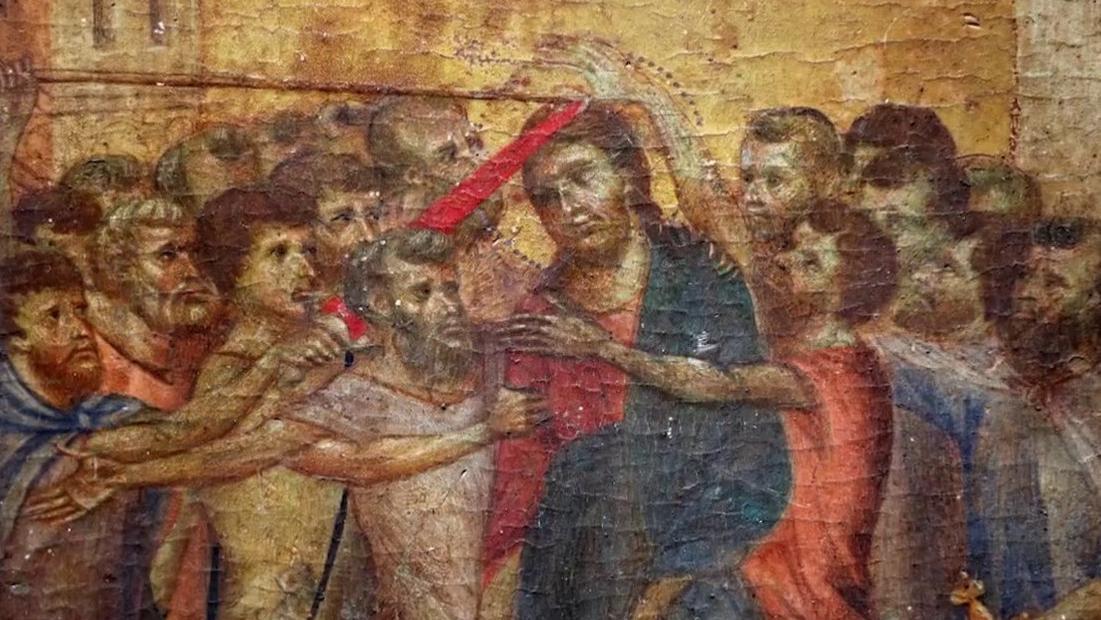 Peinture Le Christ Moque Du Peintre Italien Cimabue Reposait Dans La Cuisine D Une Maison De Compiegne