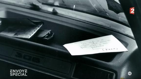 Le mot laissé par Robert Boulin sur le tableau de bord de sa voiture, découvertle 30 octobre 1979, à proximité de l\'étang Rompu (Yvelines).