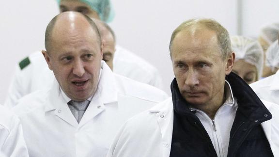 Yevgeny Prigozhin en compagnie de Vladimir Poutine le 20 septembre 2010.