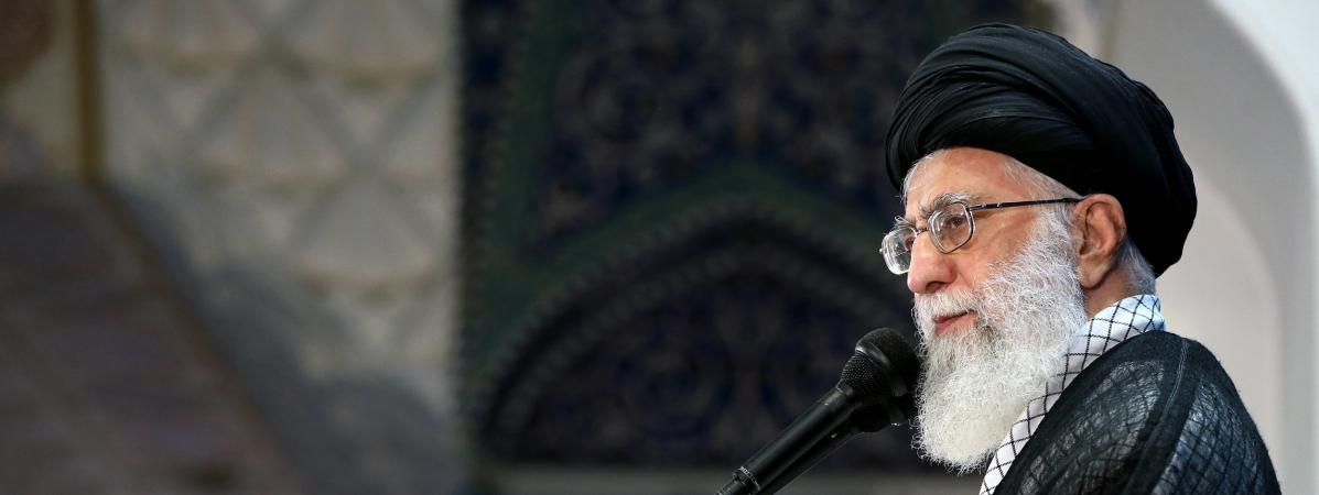 Ali Khameinei, leguide suprême iranien, lors d\'un discours à Téhéran, la capitale iranienne, le 26 juin 2017.