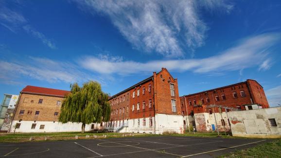 La prison de Cottbus(ex-Allemagne de l\'Est) où Peter Keup a passé près d\'un an.