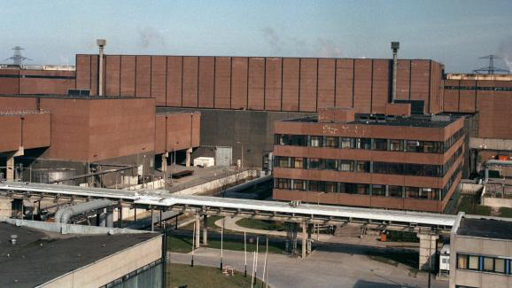 La centrale nucléaire de Greifswald (ex-Allemagne de l\'Est), en 1990.