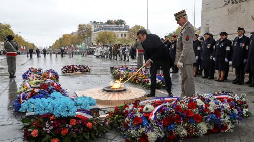 VIDEO. 11-Novembre : Emmanuel Macron rend hommage aux soldats tombés pendant la Grande Guerre