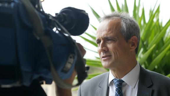La maire du Cannet-des-Maures, Jean-Luc Longour, le 15 décembre 2008.